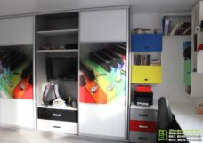 Встроенный шкаф-купе в детскую под заказ