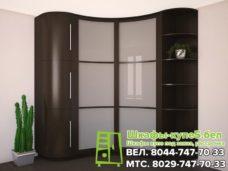 Угловой радиусный шкаф-купе с лакоматом