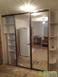 корпусный шкаф-купе с зеркалом на 3 двери